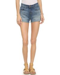 J Brand Gracie High Rise Cuffed Shorts - Jagger - Lyst