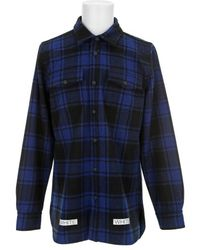Off-white Blue Shirt Check - Lyst