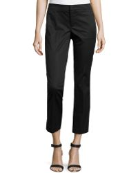 Vince Cropped Flare-Leg Pants - Lyst