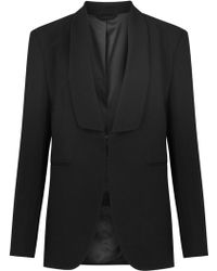 J.Lindeberg - Freya Black Crepe Tuxedo Jacket - Lyst