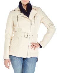 Kenneth Cole Asymmetrical Quilted Trench Coat - Lyst