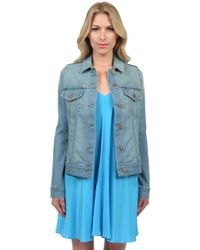 James Jeans Jean Vintage Worn Denim Jacket - Lyst
