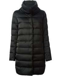 Herno Black Padded Coat - Lyst