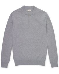 Club Monaco Crepe Cotton Quarter Zip - Lyst