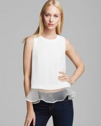 Elizabeth And James Top Sleeveless Tierney - Lyst