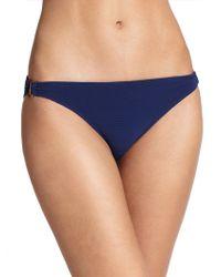 Shoshanna Solid Bikini Bottom blue - Lyst