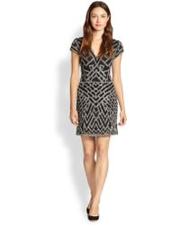Parker Serena Beaded Silk Dress - Lyst
