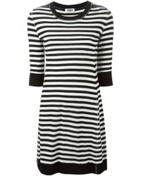 Sonia by Sonia Rykiel Striped Knitted Dress black - Lyst