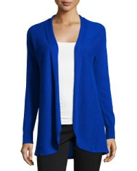 Neiman Marcus | Cashmere Pleated-back Open-front Cardigan | Lyst