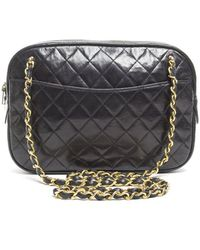Chanel Preowned Lambskin Quilted Vintage Camera Bag - Lyst