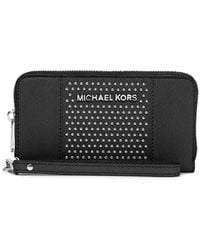 Michael by Michael Kors Large Studded Coin Purse - Lyst
