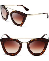 Prada Cat Eye Sunglasses brown - Lyst
