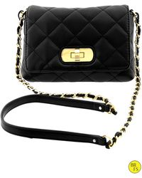 Banana Republic Factory Quilted Crossbody Bag Black - Lyst