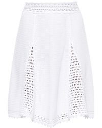 RED Valentino A-Line Crochet Skirt - Lyst