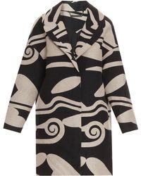 Diane Von Furstenberg Cocoon Coat - Lyst