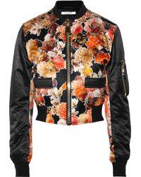 Givenchy Silk Bomber Jacket - Lyst