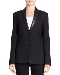 Burberry Brit Wicksby Leather-Collar Jacket - Lyst