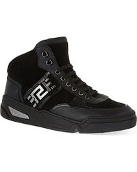 Versace Techno Greco High-top Trainers - Lyst