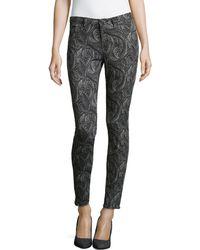 Marchesa Voyage - Printed Denim Skinny Jeans - Lyst