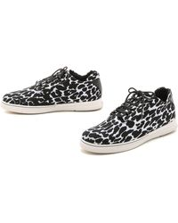 Stuart Weitzman Homestretch Sneakers - Black/White - Lyst