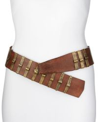 Donna Karan New York Leather Belt with Punch Brackets - Lyst