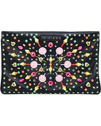 Manish Arora - Embellished Faux Leather Clutch - Lyst