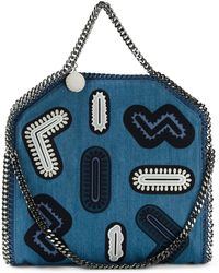 Stella McCartney Falabella Zigarette Mini Tote blue - Lyst