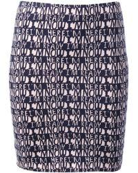 Lulu & Co | Text Print Mini Skirt | Lyst
