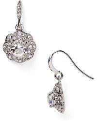 Carolee Small Flower Drop Earrings - Lyst