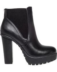 Steve Madden | Amandaa Leather Boots | Lyst