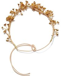 Nasty Gal Gold My Breath Flower Crown - Lyst