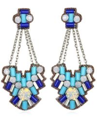 Suzanna Dai Aegean Chandelier Earrings, Cobalt/Turquoise - Lyst