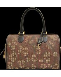 Etro Paisley Studded Animal Bowling Bag - Lyst