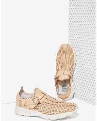Nasty Gal Jeffrey Campbell Meander Leather Sneaker - Lyst