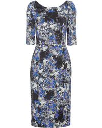 Erdem Jessica Floral Print Stretch Twill Dress - Lyst