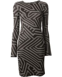 Gareth Pugh Black Printed Dress - Lyst
