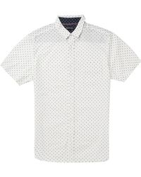Brave Soul All Over Micro Print Short Sleeve Shirt - Lyst
