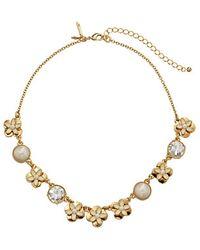 Kate Spade Window Seat Bouquet Mini Necklace - Lyst