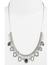 Kent & King - Jeweled Frontal Necklace - Lyst