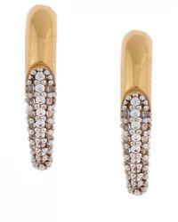 Rachel Zoe Pave Claw Stud Earring - Lyst