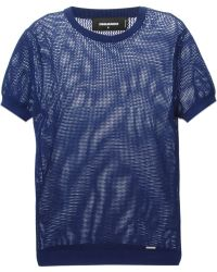 DSquared2 Sheer T-Shirt - Lyst