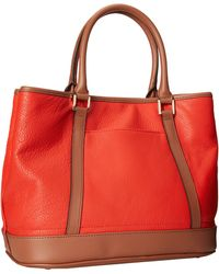 Calvin Klein Red Pebble Tote - Lyst