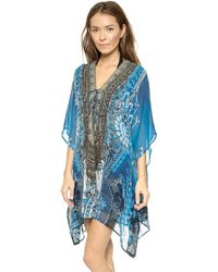 Camilla Short Lace Up Caftan - Halcyon - Lyst