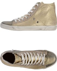 Leather Crown High Tops  Trainers - Lyst