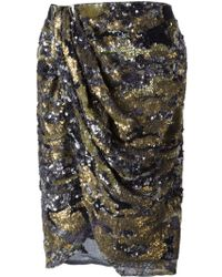Isabel Marant Multicolor Sequin Skirt - Lyst