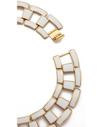 Rachel Zoe - Eloise Leather Link Collar Necklace - White - Lyst