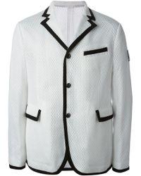 Moncler Gamme Bleu White Mesh Jacket - Lyst