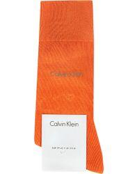 Calvin Klein Premium Cotton Socks Orange Crush - Lyst