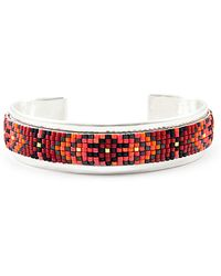 Chan Luu Seed Bead And Sterling Silver Cuff Bracelet - Lyst