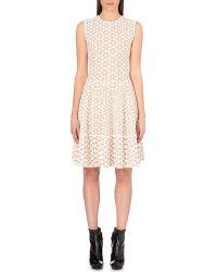 Alexander McQueen Patterned Knit Dress - For Women - Lyst
